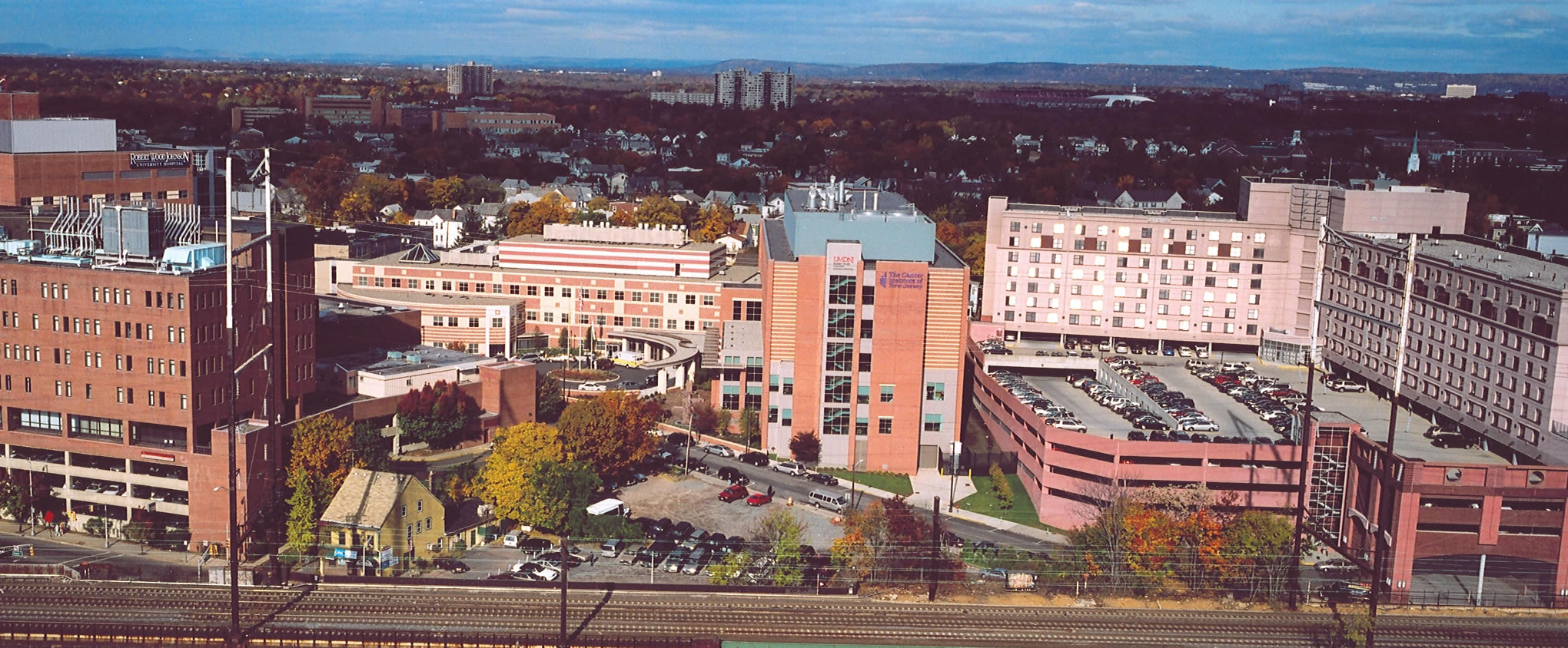 One Spring Street view of world-class hospitals in downtown New Brunswick